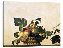 Toile  Corbeille de fruits - nature morte - Michelangelo Merisi (Caravaggio)