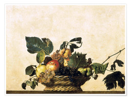 Poster  Corbeille de fruits - nature morte - Michelangelo Merisi (Caravaggio)