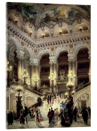 Tableau en verre acrylique  Stairs of the Opera in Paris - Jean Beraud