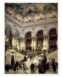 Poster  Stairs of the Opera in Paris - Jean Beraud