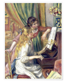 Pierre-Auguste Renoir - Two girls at the piano