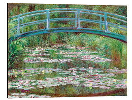 Tableau en aluminium  Nympheas blancs - Claude Monet