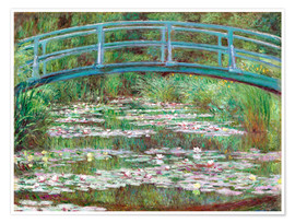 Poster  Nympheas blancs - Claude Monet
