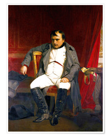 Poster Napoleon after his abdication