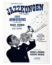 Poster  Louis Armstrong New Orleans