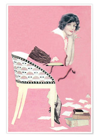 Poster  pink books - Clarence Coles Phillips
