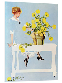 Forex  Housekeeper with bouquet - Clarence Coles Phillips