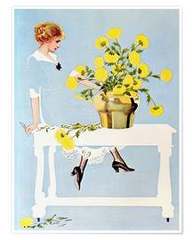 Poster  Housekeeper with bouquet - Clarence Coles Phillips