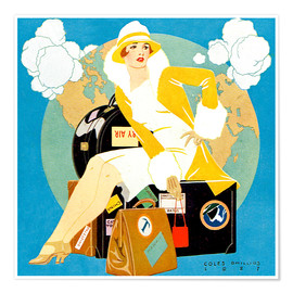 Clarence Coles Phillips - traveling Lady - Life magazine 1927