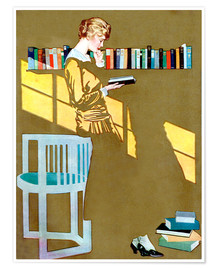 Poster  Read before the Bookshelf - Clarence Coles Phillips