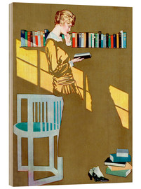 Bois  Read before the Bookshelf - Clarence Coles Phillips