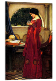Tableau en PVC  La boule de cristal - John William Waterhouse