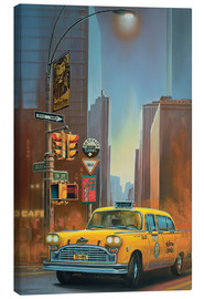 Tableau sur toile  Yellow Cab - Georg Huber