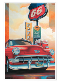 Poster  Route 66 - Georg Huber