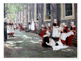 Poster  Orphanage in Amsterdam - Max Liebermann