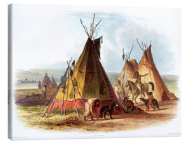 Tableau sur toile  Camp of Native Americans