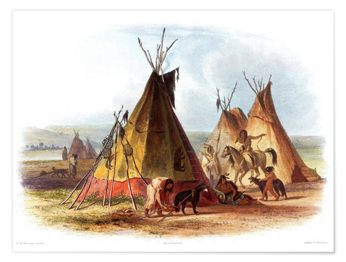 Poster Camp of Native Americans