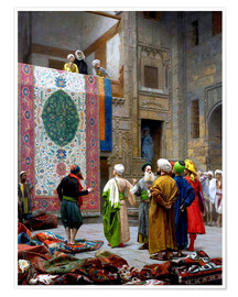 Poster  The Carpet Merchant - Jean Leon Gerome