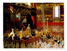 Poster  Coronation of Nicholas II. And Alexandra Fjdorownas - Laurits Regner Tuxen