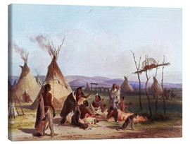 Toile  Camp of Native Americans - Karl Bodmer