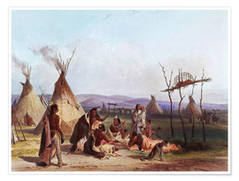 Poster  Camp of Native Americans - Karl Bodmer