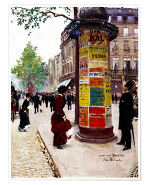 Poster Un kiosque à Paris