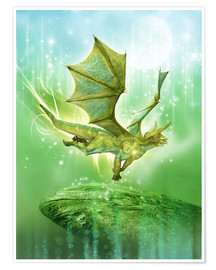 Poster  Cœur de dragon - Dolphins DreamDesign