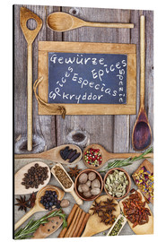 Tableau en aluminium  Spices in different languages - Thomas Klee