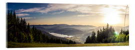 Verre acrylique  Sunset at Titisee - Siegfried Heinrich