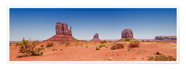 Poster Vue panoramique de Monument Valley I