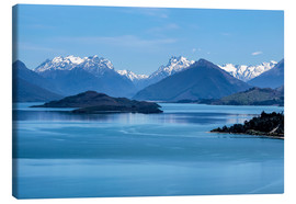 Tableau sur toile  Lake Wakatipu, View direction Glenorchy (New Zealand) - Christian Müringer
