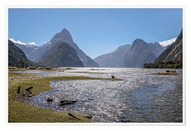 Poster  Milford Sound and Mitre Peak (New Zealand) - Christian Müringer