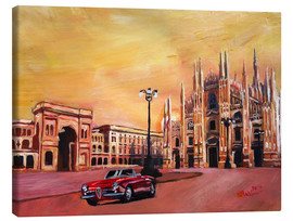 Toile  Milan Cathedral with Oldtimer Convertible Alfa Romeo - M. Bleichner