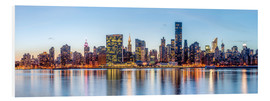 Tableau en PVC  New York - Skyline de Manhattan - Sascha Kilmer