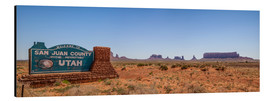 Tableau en aluminium  Panorama de Monument Valley III - Melanie Viola