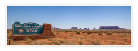 Poster Panorama de Monument Valley III