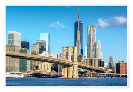 Poster  Pont de Brooklyn et World Trade Center à New York - Sascha Kilmer