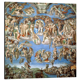 Alu-Dibond  The Last Judgement - Michelangelo