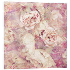 Tableau en PVC  Faded roses - INA FineArt