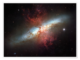 Poster  Starburst galaxy, Messier 82 - Stocktrek Images