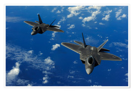 Poster  F-22 Raptors - Stocktrek Images