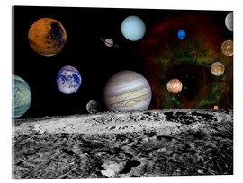 Tableau en verre acrylique  Montage of the planets - Stocktrek Images