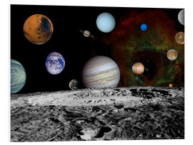 Tableau en PVC  Montage of the planets - Stocktrek Images