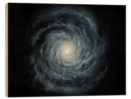 Tableau en bois  face-on view of the Milky Way - Ron Miller
