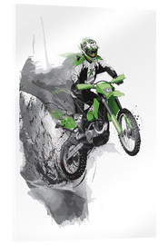 Verre acrylique  motocross - tom