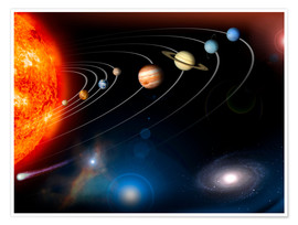 Poster  Our Solar System - Stocktrek Images