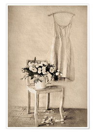 Poster  Nature morte aux marguerites blanches - Christin Lamade
