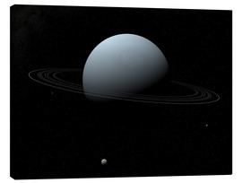 Tableau sur toile  Uranus and its tiny moon Puck - Walter Myers