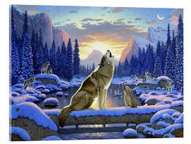 Tableau en verre acrylique  Wolf learns the howling - Chris Hiett