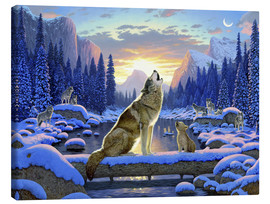 Tableau sur toile  Wolf learns the howling - Chris Hiett